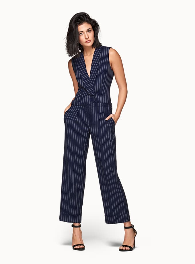 Navy Striped Jumpsuit Suistudio New Styles Cheap Price Manchester Great Sale For Sale In China Free Shipping Perfect Buy Cheap Latest Collections eu0XH