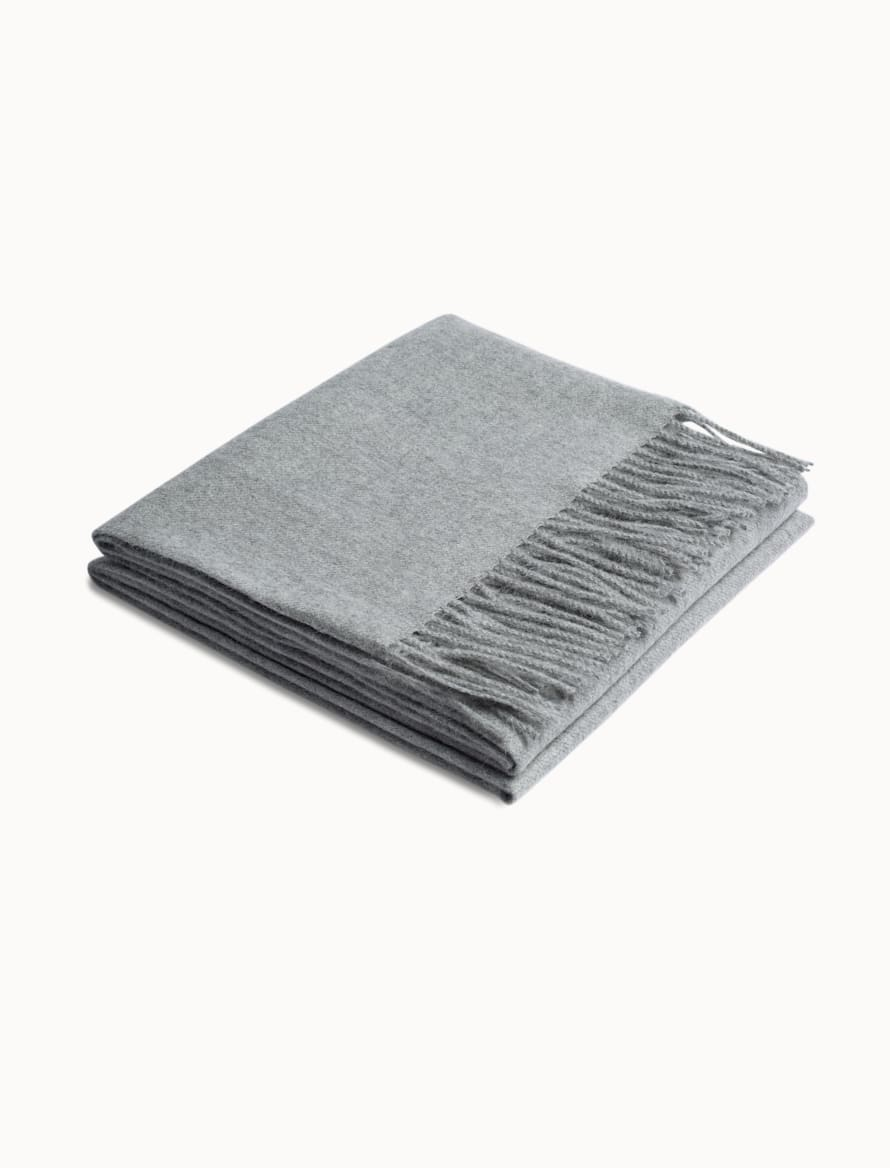 Light Grey Plain Scarf