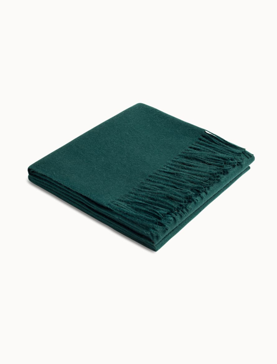 Green Plain Scarf