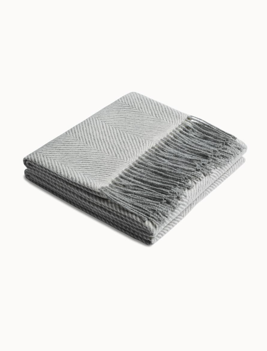 Light Grey Herringbone Scarf