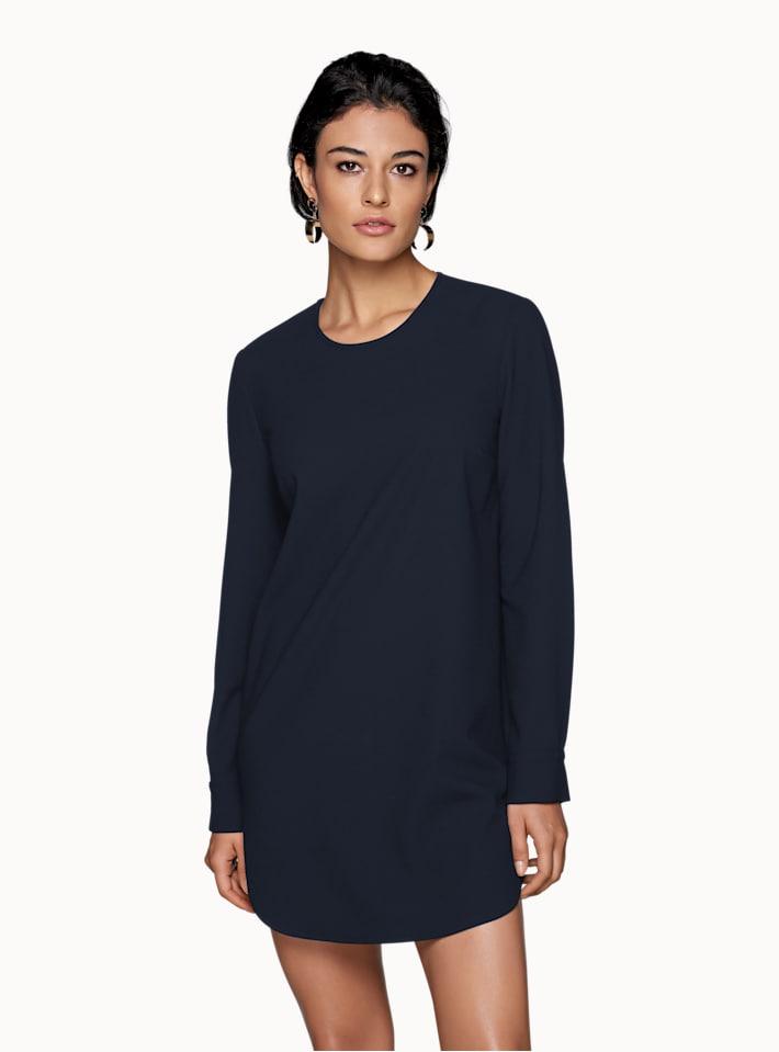 Navy Plain Dress