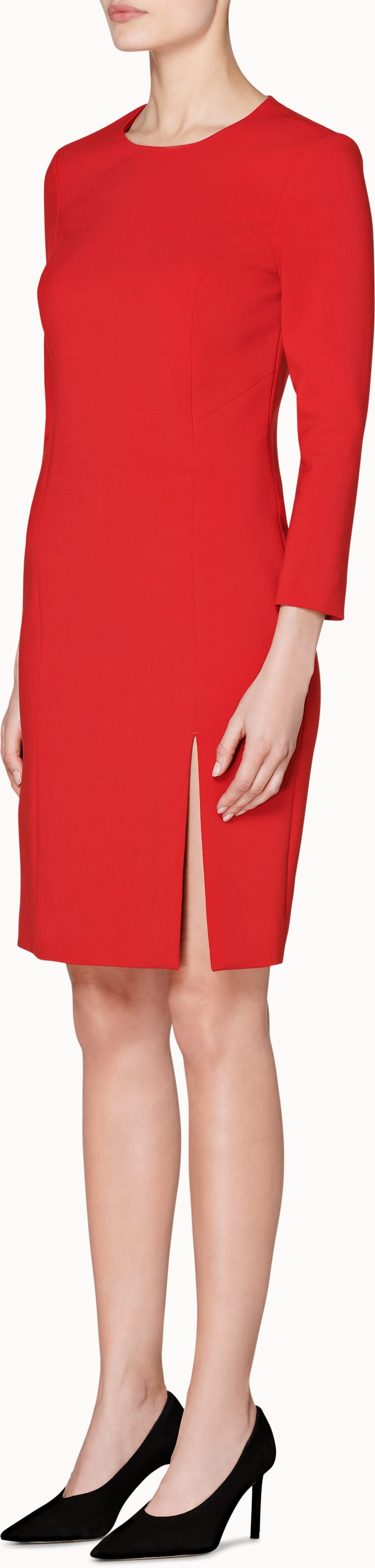 Red Plain Dress