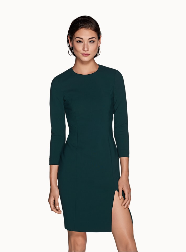 Forest Green Plain Dress