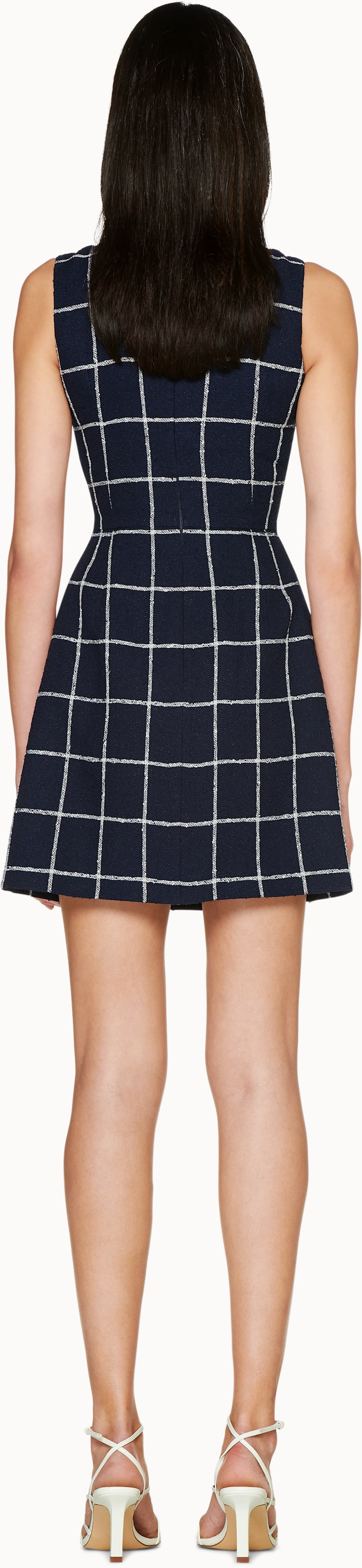 Navy Checked Dress