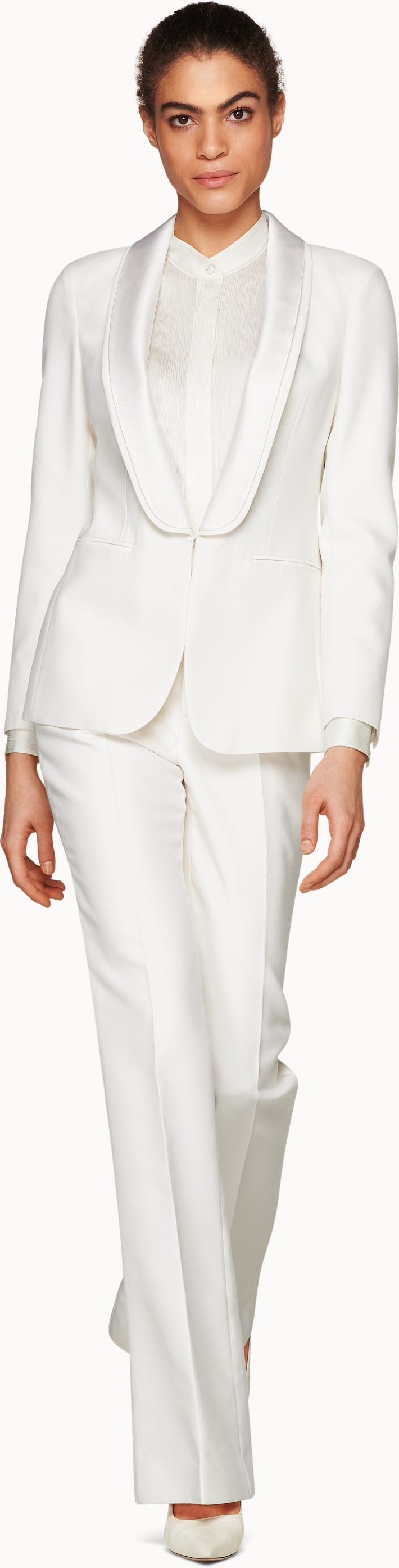 Cameron Double Shawl Tux Off White Suit