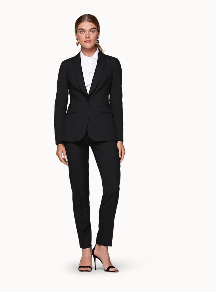 Cameron Black Plain Suit