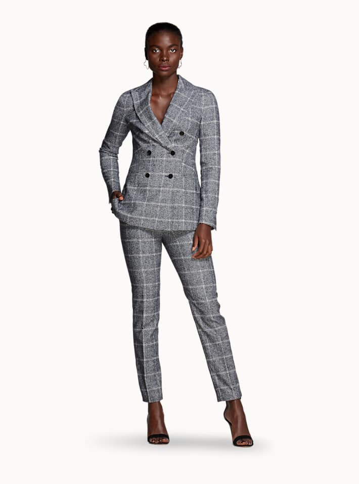 Cameron Blue Checked Suit