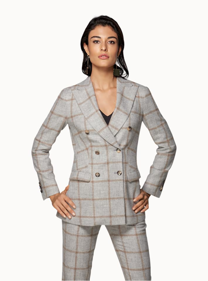 Cameron Light Grey Checked Suit