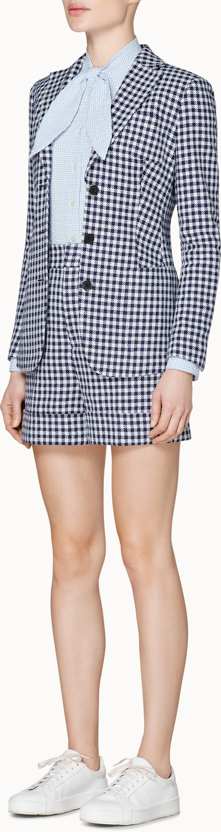 Cameron Blue Checked Jacket