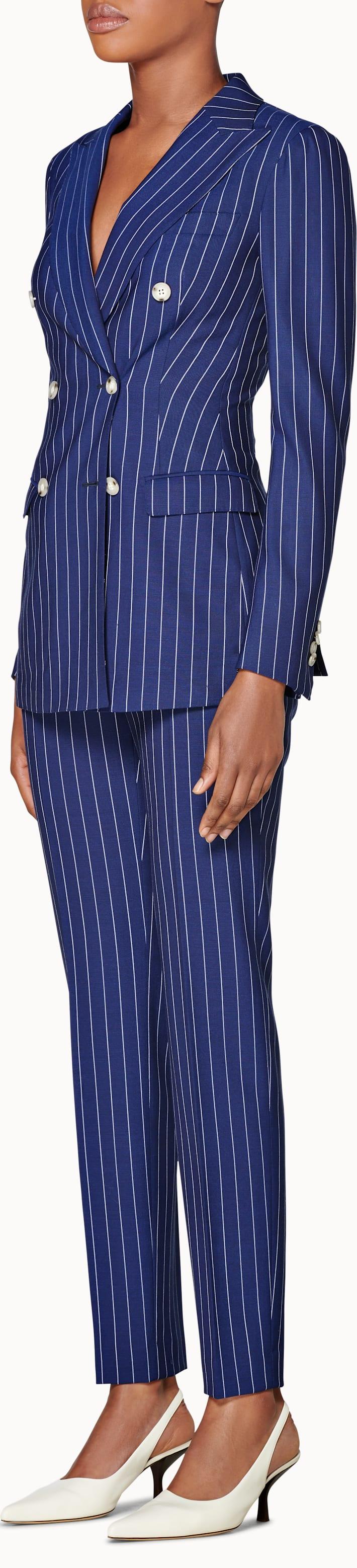 Cameron Blue Striped Suit