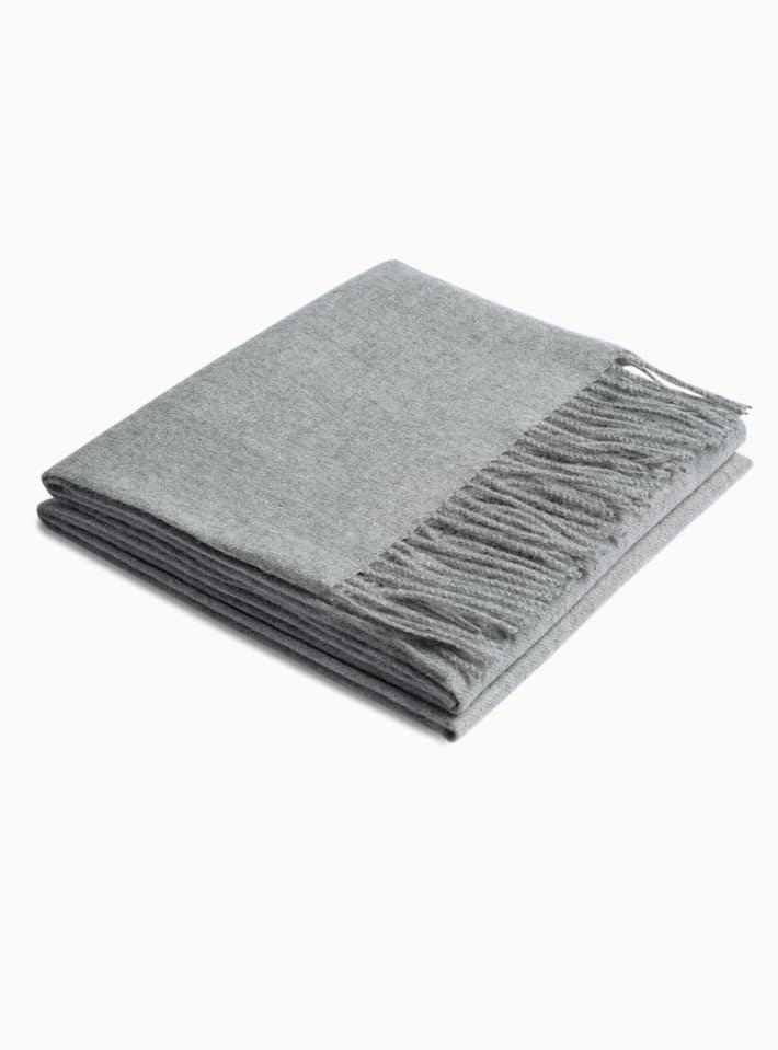 Light Grey Plain Scarf