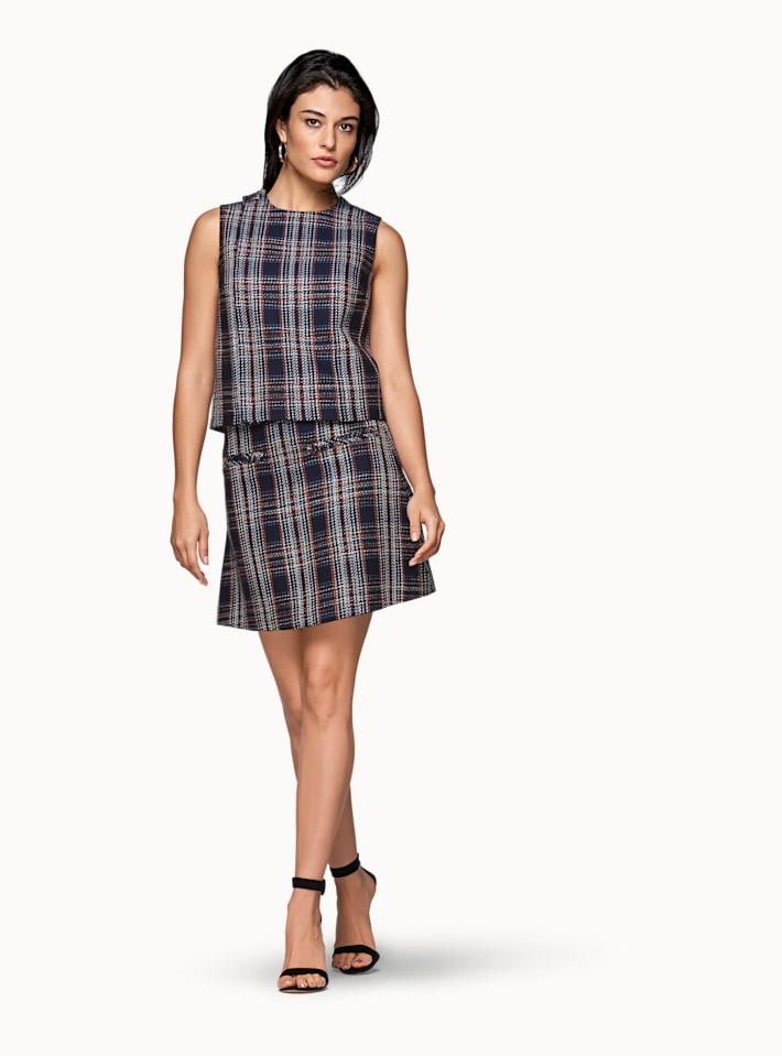 Alfie Navy Skirt