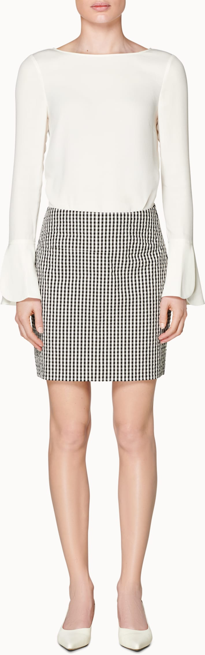 Grey Checked Skirt