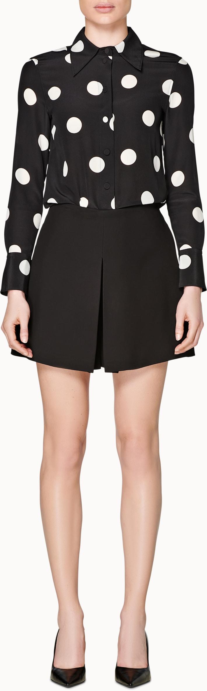 Devon Black Plain Skirt