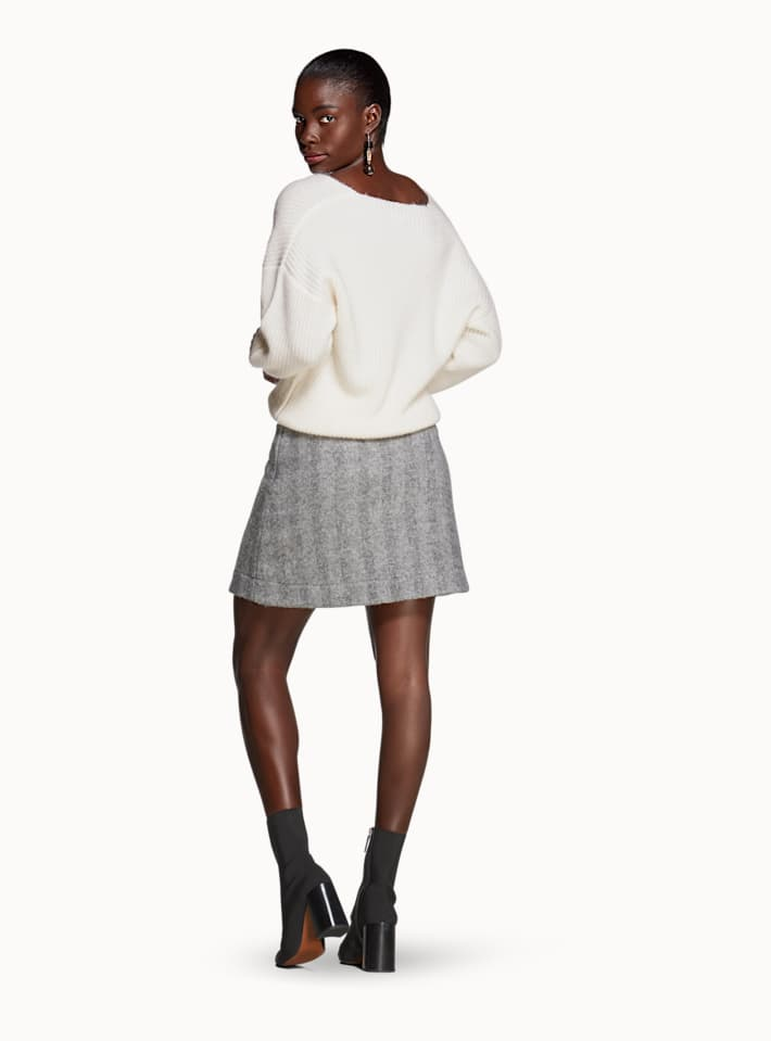Alfie Grey Herringbone Skirt