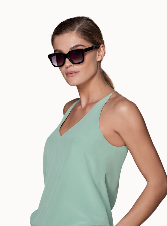 Mint Green Plain V Neck Camisole