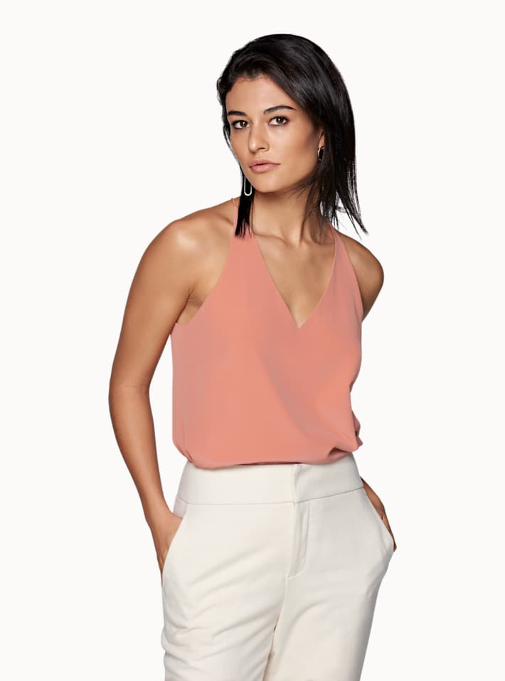 Pink  V Neck Camisole