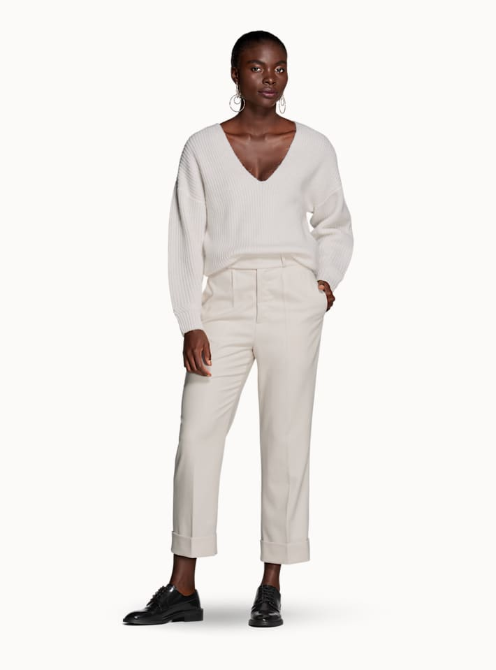 Alana Off White Trousers