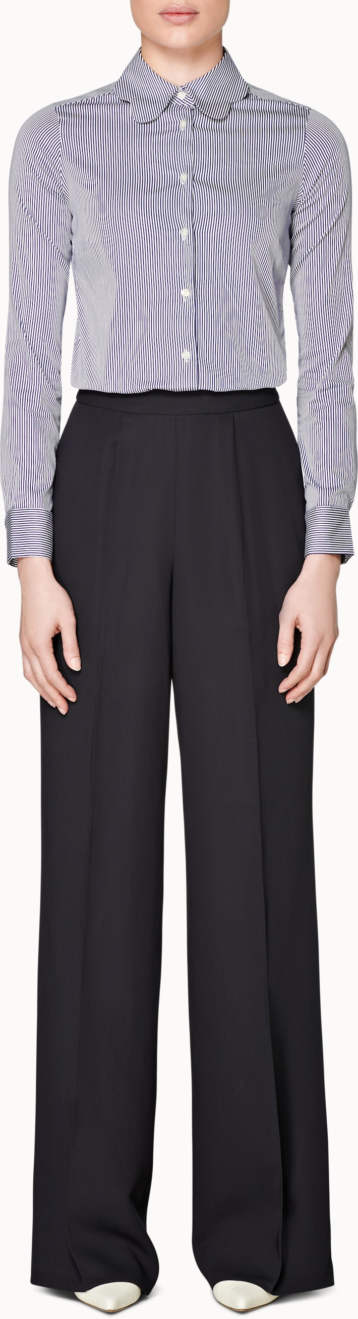Ally Navy Plain Trousers