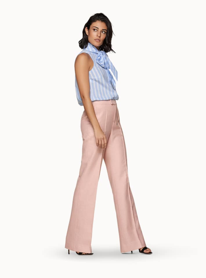 Ally Pink Checked Trousers