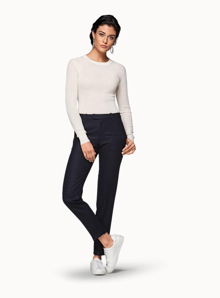 Robin Navy Plain Trousers