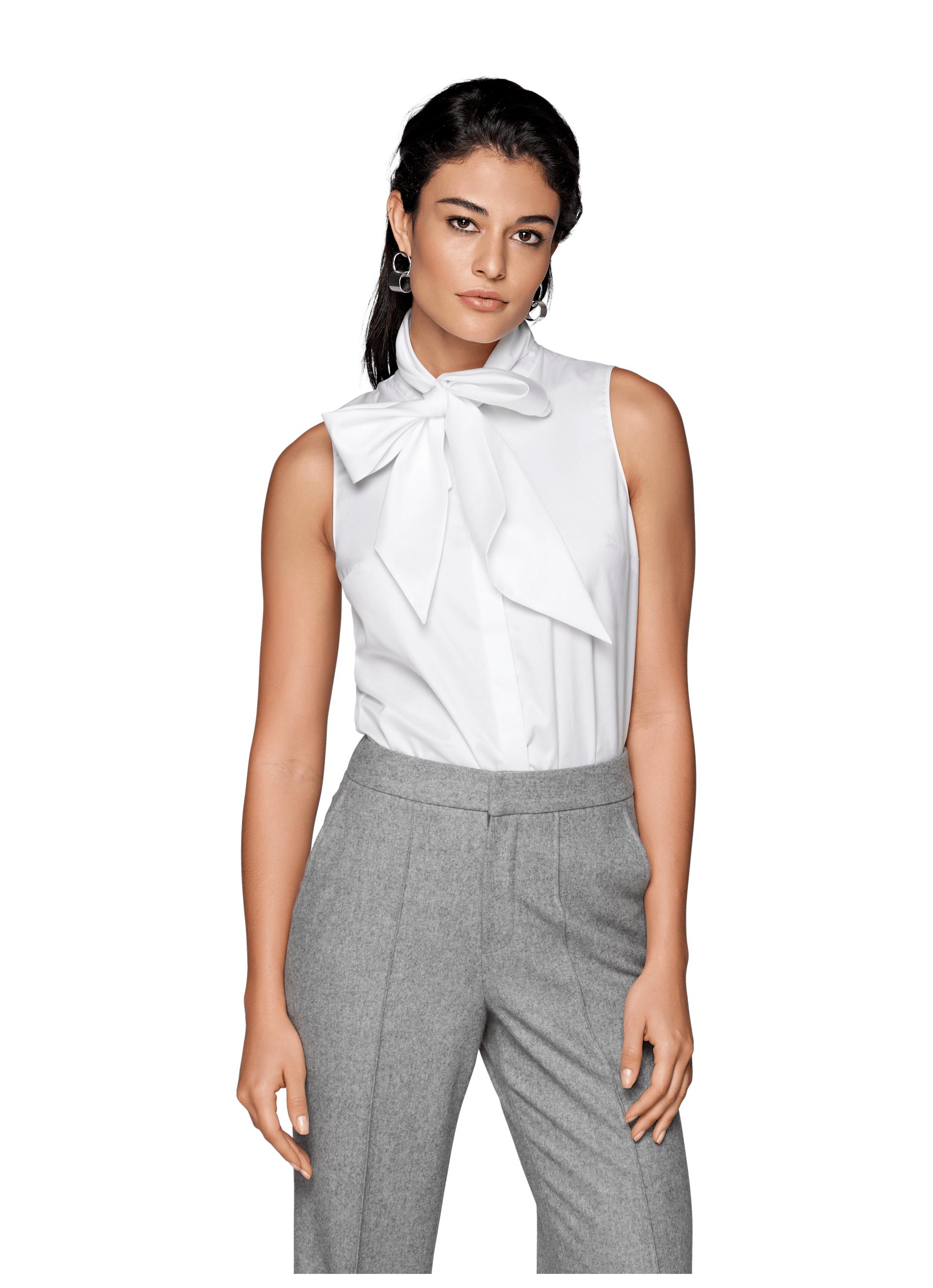 White Bow Shirt Ls0074 Suistudio Online Store