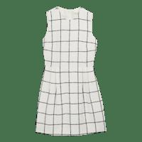 White_Checked_Dress_LD0097
