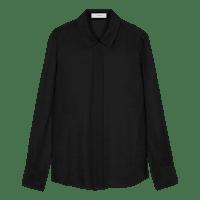 Black_Plain_Silk_Shirt_LT0055
